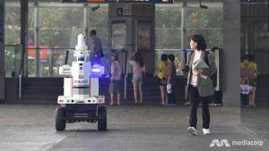 робот полицейский в Сингапуре
